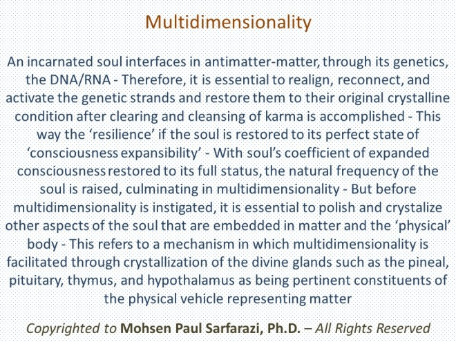 Clearing, cleansing, RRA, and Multidimensionality